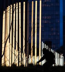 Ride Faster !! (mamat75019) Tags: défense vélo bicycle paris parisiens fuji 35mm 35mmf2 night lines lignes light lighting blue street photography