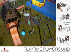 NEW! Playtime Playground @ FaMESHed (Bhad Craven 'Bad Unicorn') Tags: kids playgrounds playground 3d art artist gfx graphic design bhadcraven badunicorn unicorns unicorn bad bhad craven secondlife second life sl mesh meshed decor decorative decors home garden gardens homes houses builds buildings cool dope wood slide animated smpw snow snowing