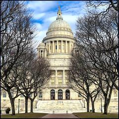 Rhode Island State House (Timothy Valentine) Tags: building large iphone3651 sky 0120 2020 trees providence rhodeisland unitedstatesofamerica
