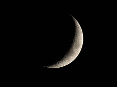 (macg33zr) Tags: places wrestlingworth astronomy moon crescentmoon waxing
