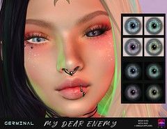 GERMINAL - MY DEAR ENEMY @The Darkness Event (Veronika Obviate (owner of GERMINAL)) Tags: germinal thedarkness mydearenemy eyes mesheyes black white demon soul catwa lelutka genus omegaapplier omega secondlife thedarknessevent