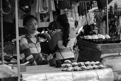 Bibinka Seller (Beegee49) Tags: street people food woman filipina bibinka cakes blackandwhite monochrome sony a6000 bw bacolod city philippines asia happyplanet asiafavorites