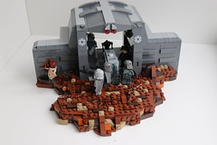 Imperial Transport Tunnel On Mimban (1) (LukeTheDuke424) Tags: lego toy moc build star wars mimban minifigure mudtrooper mimbanese imperial empire rebel solo droid weapon soldier battle war fight sec