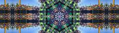 county fair kaleidoscope (pbo31) Tags: bayarea california nikon d810 color january 2020 panorama large stitched panoramic kaleidoscope kaleidoscopic pattern blue pleasanton alamedacountyfair eastbay midway butleramusements rides gates