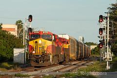 First (TolgaEastCoast) Tags: fec florida east coast train 141 el portal little river miami es44c4 intermodal extra
