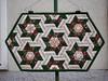 my recent work (k15quilter) Tags: patchwork quilt tablerunner tischläufer hexagons quilting stars sterne claudiaschmidt
