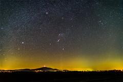 orion i sleza (pasiak75) Tags: sequator iso1600and6400 25frames stacked 2019 orion orionnebula rosettenebula slęża krajobraz landscape night outdoor sky sonya7s stars tamron 150600 tamron150600