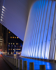Blue (atenecela) Tags: nyc oculus wtc night photography