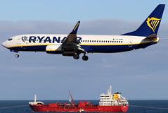 EI-GXM (GH@BHD) Tags: eigxm boeing 737 738 737800 b737 b738 fr ryr ryanair ace gcrr arrecifeairport arrecife lanzarote aircraft aviation airliner ship