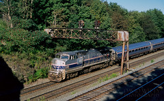 Train 43 Nearing Cresson (DJ Witty) Tags: ge dieselelectriclocomotive pittsburghline passengertrain b328wh amtrak rr photography railroad