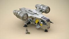 Razor Crest (Matt Mazian) Tags: starwars lego mandalorian babyyoda razorcrest mando star wars bountyhunter