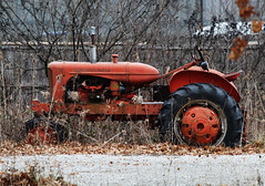 tractor (brown_theo) Tags: tractor old parked red chalmers ohio columbus gahanna allischalmers allis