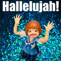 Give a Shout: TGIF! (Sasha's Lab) Tags: flickrfriday jubilance mako mankanshoku 満艦飾 マコ teen girl high school uniform hallelujahmoment joy rapture jubilation hallelujah tgif thankgoditsfriday figma action figure jfigure gsc sparkle