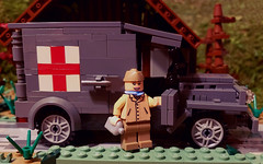 """Rochambelle"" Ambulance Driver of the Rochambeau Group (brickhistorian) Tags: ambulance nurse france allies woman veteran veterans brick bricks build building custom customs europe history lego legos minifig minifigure moc photo world war two ww2 wwii warfare medic medical"