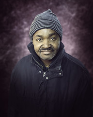 Rich (mckenziemedia) Tags: man portrait portraiture face smile stockingcap street streetphotography people humanity homeless homelessness chicago city urban