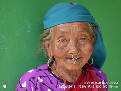 2018-05a Nepal (23) (Matt Hahnewald) Tags: matthahnewaldphotography facingtheworld qualityphoto character head face eyes nose nosepiercing septumpiercing nosejewelry nosering nosestud gemstonejewelry earring livedinface wrinkles expression lookingatcamera consensual respect dignity humanity travel lifestyle grace beauty exotic ethnic tribal indigenous native local rural traditional cultural villager arkhetbazaar manaslutrek nepal asia asian nepali magar human person one female elderly old woman portraiture detail primelens nikond610 nikkorafs85mmf18g 85mm 4x3ratio resized 1200x900pixels horizontal street portrait closeup headshot seveneighthsview indoor naturallight colour posingcamera clarity happyplanet