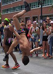 No Hands Cartwheel (Scott 97006) Tags: guys man flip gymnastic parade show amazing athletic