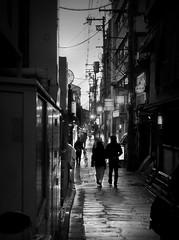 Nightmoves (明遊快) Tags: monochrome bw kyoto japanese street candid alley