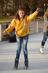 Leaving the wall (radargeek) Tags: downtown okc oklahomacity 2019 december myriadgardens iceskating devonicerink keepthemood hoodie goodvibesonly kid child children kids torn jeans