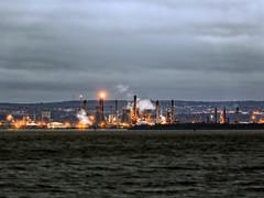 Culross to Grangemouth (ronniefleming@btinternet.com) Tags: culross fife eastcoast night grangemouth refinery chemicalplant ineos powerplant industrialheartland ph31fy ronniefleming lightsfunnels firthofforth scotland scottishlandscapes shadows