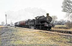 Mixed Freight, on the S & D. (Robert Gadsdon) Tags: 1965 edingtonburtle somersetanddorset gwr collett 2251class 060 3201 steam withdrawn scrapped closedline