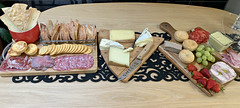 2020 New Year's Day: The Big Lunch (dominotic) Tags: 2020 food newyearsdaylunch charcuterie cheese meats fruit bread yᑌᗰᗰy foodphotography sydney australia