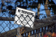 Don't You Dare (MTSOfan) Tags: chainlink sign notrespassing barbedwire hff posted privateproperty