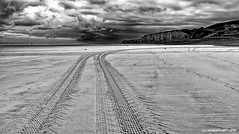 Clouds over the beach (Mike Reichardt) Tags: landscape landschaft blackwhite blancetnoir binsfeld monochrome schwarzweiss france frankreich colorblind