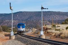 Amtrak Chapelle, NM (jtrainb) Tags: a3 amtrak bnsf chapelle glorietasub newmexico railroads signal semaphore