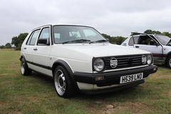 Volkswagen Golf 1.6 CL H539LNO (Andrew 2.8i) Tags: show 2 classic cars car museum vw breakfast golf volkswagen mark 1600 ii german classics mk2 16 hatch meet cl mk hatchback haynes sparkford 16cl 1600cl h539lno
