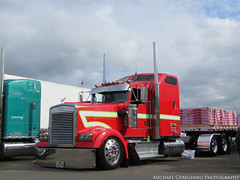 Darrick Divine's 2009 Kenworth W900L leased to RAM Trucking, Truck# 45 (Michael Cereghino (Avsfan118)) Tags: 2016 16 aths salem or oregon national show convention 2009 09 kw kenworth w900l w900 w 900 900l darrick divine ram trucking transportation american historical truck society