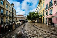 Lisbon, Portugal (Davide Tarozzi) Tags: lisboa portugal pavement colours street sky