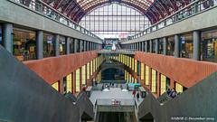 Antwerp, Belgium: Main railway station with boarding platforms on four levels (nabobswims) Tags: antwerp be belgium enhanced ilce6000 lightroom luminositymasks mirrorless nabob nabobswims photoshop railwaystation sel18105g sncb sonya6000 station