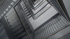 Escalation (Rob Oo) Tags: southholland netherlands ro016b lines architecture stairs parkeergarage hff escalation lammermarkt leiden underground parking ccby40