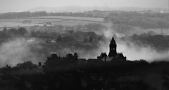 The clock tower (kevin.fahy1) Tags: add tags monochrome outdoor moody blackandwhite uk bw mists