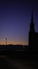 Night Has Fallen (dssken) Tags: sunset sunsetphotography horizon shadow sky silhouette dusk evening lastlight locationiseverything building steeple church night nightphotography colorful gradient sonyalpha architecture outdoors exterior no people urban skyline
