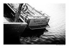 """""""Dans Les Traces Du Poulpe Ou Pour L'Attendrir Faut Taper Dessus... 10"""" (TBWLC Photography) Tags: fdrouet tbwlc nb bw monochrome bateau ship port eau water saintnazaire penhoët nikon d750"""