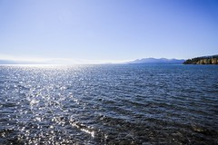 Lake Tahoe (Yuki (8-ballmabelleamie)) Tags: sierranevadamountains sunshine sunlight glare transparent tranquil scenic serene autumn roadtrip recreation freshwaterlake nevada california backlight canonef24105mmf3556isstm