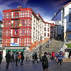 Bilbao, Biscay, Basque Country, Spain (pom'.) Tags: panasonicdmctz101 bilbao plazamigueldeunamuno españa paísvasco vizcaya spain basquecountry biscay bilbo espainia euskalautonomiaerkidegoa bizkaia euskalherria pensionmatilde mallonagaltzada