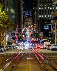 San Francisco (drasphotography) Tags: san francisco california nightshot nachtaufnahme long exposure travelphotography travel reisefotografie drasphotography nikon d810 nikkor2470mmf28 cityscape urban baybridge oakland street cars cablecar