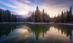 Emerald Lake (Toni_pb) Tags: rockies canada canadianrockies wild wildlife winter winterscape water waterscape reflection colors nature landscape nikon d850 1424