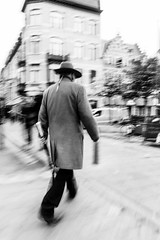 On his tail (koen_jacobs) Tags: streetphotography antwerp blackandwhite