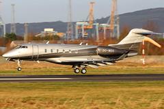 OO-WEG (GH@BHD) Tags: ooweg bombardier bd100 challenger350 luxaviationbelgium belfastcityairport challenger300 challenger abelagaviation aircraft aviation bizjet corporate executive bhd egac