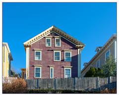 House on a Hill (Timothy Valentine) Tags: large sky 0120 2020 buildings friday fence providence rhodeisland unitedstatesofamerica