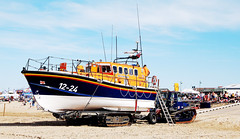 ON RHYL BEACH # 2 : THE LIFEBOAT. (tommypatto : ~ IMAGINE.) Tags: northwales rhyl lifeboats