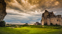 Mirów Castle (Andrzej Kocot) Tags: andrzejkocot art adventure architecture action landscape landscapes sky surreallandscape surreal sunlight skyline sunset sunsetmood starlandscapes storm creative clouds colors countryside castle olympus omd outdoor poland polska photography fineart field