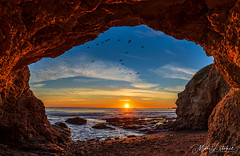 Fantastic Sea Cave (Mimi Ditchie) Tags: cave seacave shellbeach sunset ocean birds centralcoast california getty gettyimages mimiditchie mimiditchiephotography