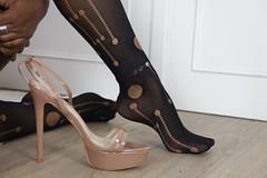 Heels nylons stockings soles (Ysée de France) Tags: highheels heels platforms stockings nylon nylons nylonfetish sexymodel sexygirl sexyebony soles pantyhose