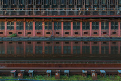 Industrial reflections II (frankdorgathen) Tags: alpha6000 sonyzeiss24mm mundane reflection spiegelung coalmining bergbau industrie industry ruhrgebiet ruhrpott ruhrarea stoppenberg essen zechezollverein kokerei cokeryplant