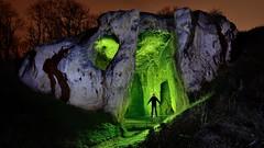 Duivelsgrot (palateth) Tags: lightpainting lightart night nophotoshop singleexposure cave silhouette duivelsgrot